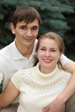 Young pair outdoor in summer Royalty Free Stock Photos