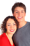 Young pair smiles Stock Photography