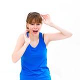 Young panic woman Royalty Free Stock Image