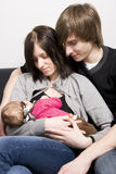 Young parents Royalty Free Stock Photo