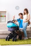The young parents with baby expecting new arrival. Young parents with baby expecting new arrival royalty free stock photography