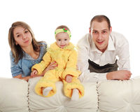 Young parents and baby Stock Images