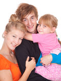 Young parents with beautiful daughter Stock Photography