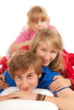 Young parents with beautiful daughter Royalty Free Stock Images
