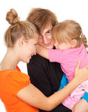 Young parents with beautiful daughter Stock Image