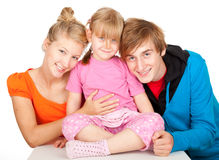 Young parents with beautiful daughter Stock Images