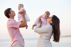 Young parents with children Royalty Free Stock Images