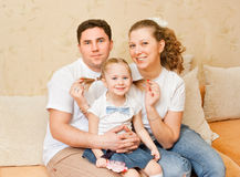 Young parents with a daughter Stock Photo