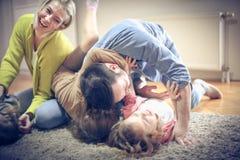 Smiling family. stock photos