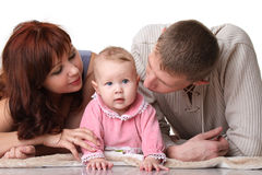 Young parents looking for baby Royalty Free Stock Photo