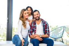 Young parents with their daughter Royalty Free Stock Image