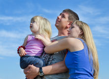 Young parents with their small daughter Stock Photography
