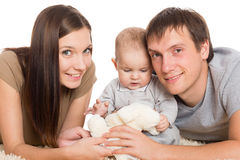 Young parents with their son Stock Images