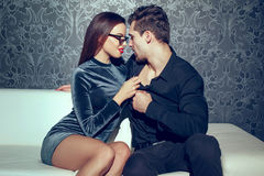 Free Young Passionate Couple Close Together Indoor Royalty Free Stock Photography - 95218917