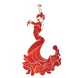 Young passionate woman dancing flamenco Stock Photography