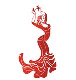 Young passionate woman dancing flamenco Royalty Free Stock Photography