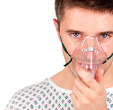 Young patient with mask Royalty Free Stock Photo
