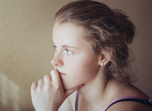 Young Pensive Teen Girl Royalty Free Stock Images