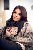 Young pensive woman Royalty Free Stock Photography