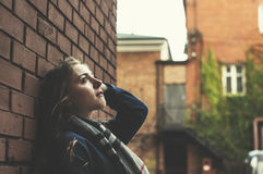 Young pensive woman Royalty Free Stock Image