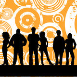 Young people. On grunge background Royalty Free Stock Photography