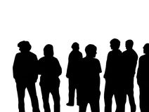 Young People. Illustration of a group of young people Stock Photo