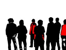 Young People. Illustration of a group of young people Stock Image