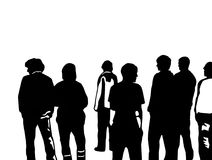 Young People. Illustration of a group of young people Stock Photos