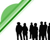 Young People. Illustration of a group of young people Royalty Free Stock Photo