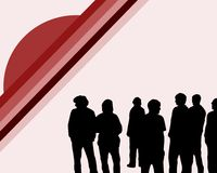 Young People. Illustration of a group of young people Royalty Free Stock Image