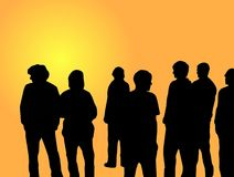 Young People. Illustration of a group of young people Royalty Free Stock Photography