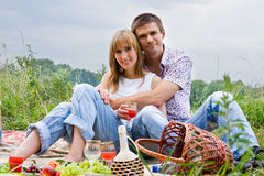 Young People At The Picnic Royalty Free Stock Image