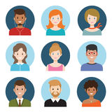 Young people avatar Royalty Free Stock Photos