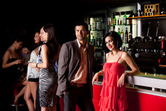 Young people in bar having fun Royalty Free Stock Photography