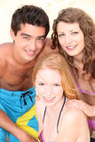 Young people at beach Royalty Free Stock Photography