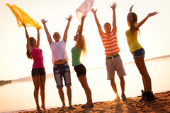 Young people at the beach Royalty Free Stock Image