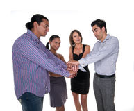 Young people bonding together Royalty Free Stock Image