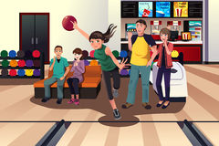 Young people at bowling Stock Photography