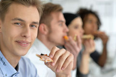 Young people on break Royalty Free Stock Image