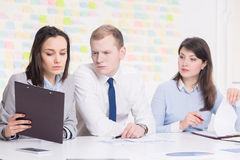 Young people and business consultation Royalty Free Stock Photos