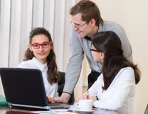 Young people on business project presentation Royalty Free Stock Images
