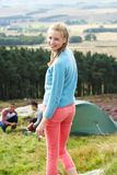 Young People On Camping Trip In Countryside Royalty Free Stock Photo