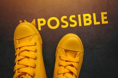 Young people can make impossible things possible stock photo