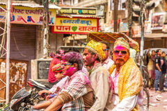 Young people celebrate Holi festival in India Stock Image