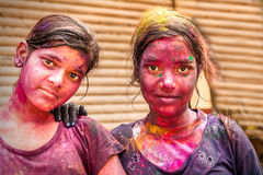 Young people celebrate Holi festival in India Stock Photography