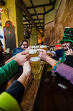 Young people celebrating Saint Patrick day Royalty Free Stock Photo