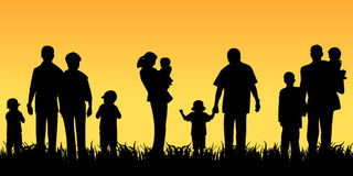 Young people with children Royalty Free Stock Images