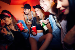 Young People Chilling at Cool Party Royalty Free Stock Photo