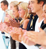 Young people clapping hands - success Stock Photo