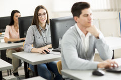 Young people in the classroom Royalty Free Stock Image